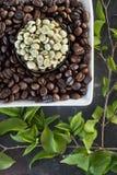 ακατέργαστος καφέ φασο&lamb Στοκ Εικόνα