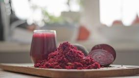 Ακατέργαστος κόκκινος χυμός παντζαριών φιλμ μικρού μήκους