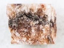 ακατέργαστο άλας βράχου halite στο λευκό Στοκ Φωτογραφίες
