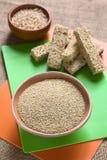 Ακατέργαστο άσπρο Quinoa Στοκ Εικόνα
