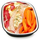 Ακατέργαστο έτοιμο γεμισμένο καβούρι Tilapia έτοιμο για το φούρνο Στοκ Εικόνα