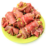Ακατέργαστο έτοιμο γερμανικό Roulade έτοιμα Cook βόειου κρέατος Στοκ φωτογραφία με δικαίωμα ελεύθερης χρήσης