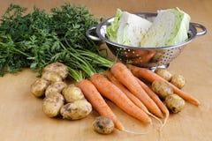 Ακατέργαστο λαχανικό για τη σούπα στοκ φωτογραφίες