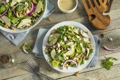 Ακατέργαστο αχλάδι φθινοπώρου και σαλάτα μπλε τυριών Στοκ Εικόνες