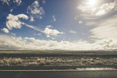 Ακατέργαστο ηλιόλουστο τοπίο της Αριζόνα Στοκ Εικόνα