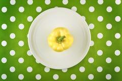 Ακατέργαστο κίτρινο πιπέρι, τοπ άποψη Στοκ Φωτογραφία