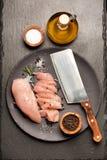 Ακατέργαστο κοτόπουλο λωρίδων Στοκ εικόνες με δικαίωμα ελεύθερης χρήσης