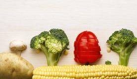 Ακατέργαστο κολάζ λαχανικών Στοκ Φωτογραφίες