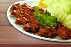 Ακατέργαστο κρέας συμπερασμάτων Στοκ εικόνα με δικαίωμα ελεύθερης χρήσης