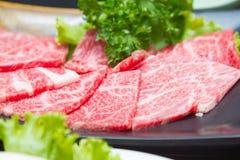 Ακατέργαστο κρέας φετών Στοκ Φωτογραφίες