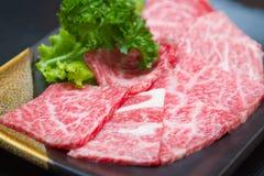 Ακατέργαστο κρέας φετών στοκ εικόνα