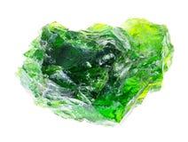 ακατέργαστο κρύσταλλο του χρωμίου διοψίδιο (σιβηρική σμάραγδος στοκ φωτογραφία με δικαίωμα ελεύθερης χρήσης