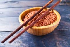 Ακατέργαστο κόκκινο ρύζι Στοκ εικόνες με δικαίωμα ελεύθερης χρήσης