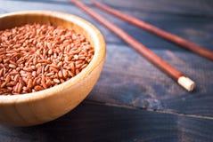 Ακατέργαστο κόκκινο ρύζι Στοκ Φωτογραφία
