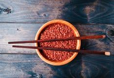 Ακατέργαστο κόκκινο ρύζι Στοκ Φωτογραφίες