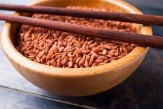 Ακατέργαστο κόκκινο ρύζι Στοκ φωτογραφία με δικαίωμα ελεύθερης χρήσης