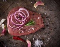 Ακατέργαστο κόντρα φιλέτο βόειου κρέατος ασφαλίστρου Στοκ Εικόνα