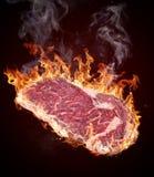 Ακατέργαστο κόντρα φιλέτο βόειου κρέατος ασφαλίστρου Στοκ Εικόνες