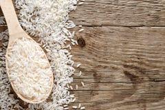 ακατέργαστο λευκό ρυζιού Στοκ φωτογραφία με δικαίωμα ελεύθερης χρήσης