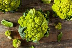 Ακατέργαστο οργανικό πράσινο κουνουπίδι μπρόκολου Στοκ φωτογραφία με δικαίωμα ελεύθερης χρήσης