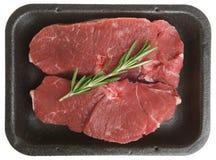 Ακατέργαστο πακέτο μπριζολών κρέατος αρνιών Στοκ Εικόνες