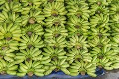 ακατέργαστο πράσινο σχέδιο σωρών μπανανών bankground Στοκ φωτογραφία με δικαίωμα ελεύθερης χρήσης