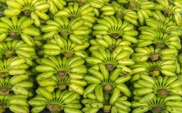 Ακατέργαστο πράσινο υπόβαθρο σχεδίων σωρών μπανανών Στοκ εικόνα με δικαίωμα ελεύθερης χρήσης