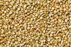Ακατέργαστο πράσινο υπόβαθρο φαγόπυρου, οργανικά vegan τρόφιμα σύσταση στοκ εικόνες