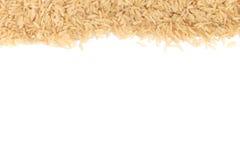 Ακατέργαστο πλαίσιο καφετιού ρυζιού στοκ φωτογραφία