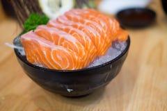 Ακατέργαστο φέτα σολομών της Ιαπωνίας ή sashimi σολομών Στοκ φωτογραφίες με δικαίωμα ελεύθερης χρήσης