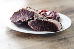 Ακατέργαστο, φρέσκο κρέας Στοκ φωτογραφία με δικαίωμα ελεύθερης χρήσης