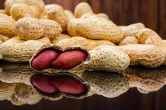 Ακατέργαστο φυστίκια ή arachis Στοκ Εικόνες