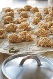 Ακατέργαστο arancini έτοιμο να τηγανιστεί Στοκ φωτογραφία με δικαίωμα ελεύθερης χρήσης
