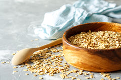 Ακατέργαστο Oatmeal Στοκ Εικόνα