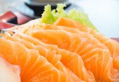 Ακατέργαστο sashimi σολομών Στοκ φωτογραφία με δικαίωμα ελεύθερης χρήσης