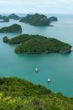 Ακατοίκητα νησιά στη θάλασσα Στοκ Εικόνα