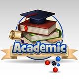 Ακαδημαϊκό εικονίδιο απεικόνιση αποθεμάτων