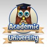 Ακαδημαϊκό πανεπιστημιακό εικονίδιο διανυσματική απεικόνιση