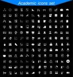 Ακαδημαϊκό σύνολο εικονιδίων Στοκ Εικόνες