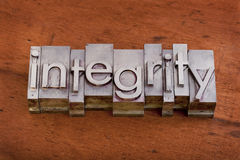 ακεραιότητα ηθικής έννοι&alpha Στοκ Εικόνες