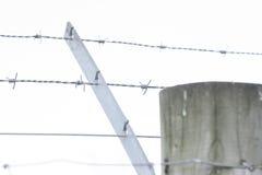 Ακιδωτή φραγή Στοκ εικόνες με δικαίωμα ελεύθερης χρήσης