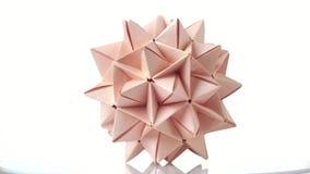 Ακιδωτός αριθμός origami σφαιρών απόθεμα βίντεο
