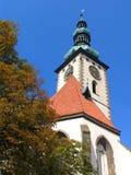 Ακιδωτός πύργος της εκκλησίας κοσμητόρων των Λόρδων Conversion στο υποστήριγμα, τετράγωνο σε Tabor στοκ φωτογραφία με δικαίωμα ελεύθερης χρήσης