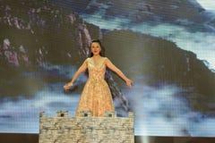 Ακμάζοντας αποδόσεις Κίνα-τραγουδιού και χορού Στοκ φωτογραφίες με δικαίωμα ελεύθερης χρήσης