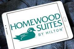 Ακολουθίες Homewood από Hilton το λογότυπο στοκ φωτογραφίες