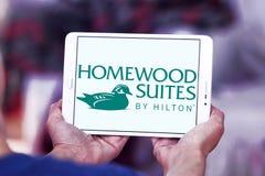 Ακολουθίες Homewood από Hilton το λογότυπο στοκ εικόνα με δικαίωμα ελεύθερης χρήσης