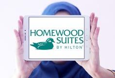 Ακολουθίες Homewood από Hilton το λογότυπο στοκ εικόνες