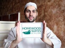 Ακολουθίες Homewood από Hilton το λογότυπο στοκ φωτογραφία με δικαίωμα ελεύθερης χρήσης