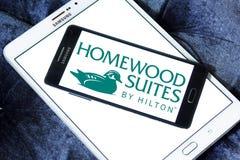 Ακολουθίες Homewood από Hilton το λογότυπο στοκ φωτογραφία