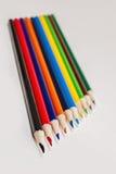 Ακονισμένα χρωματισμένα μολύβια, ξύλο Στοκ φωτογραφία με δικαίωμα ελεύθερης χρήσης